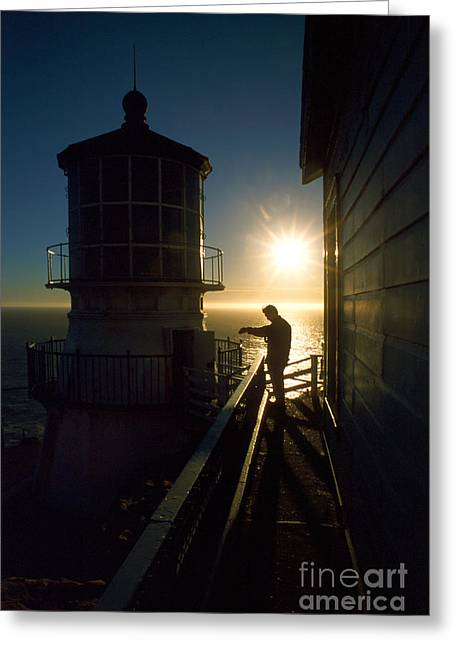 Uscg Greeting Cards - Point Reyes Lighthouse Greeting Card by Jerry McElroy