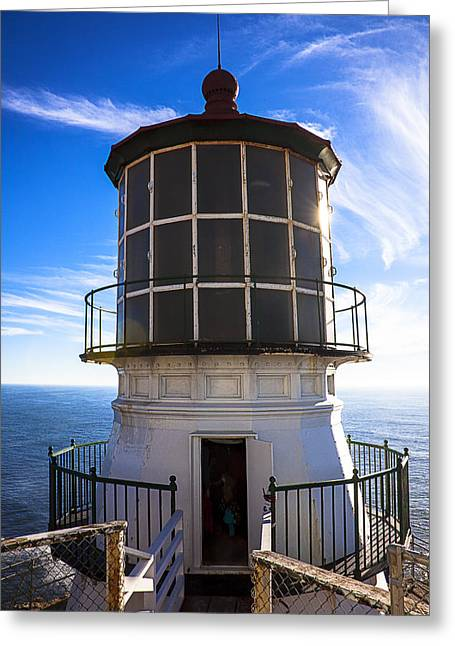 Points Greeting Cards - Point Reyes Lighthouse Station Greeting Card by Garry Gay