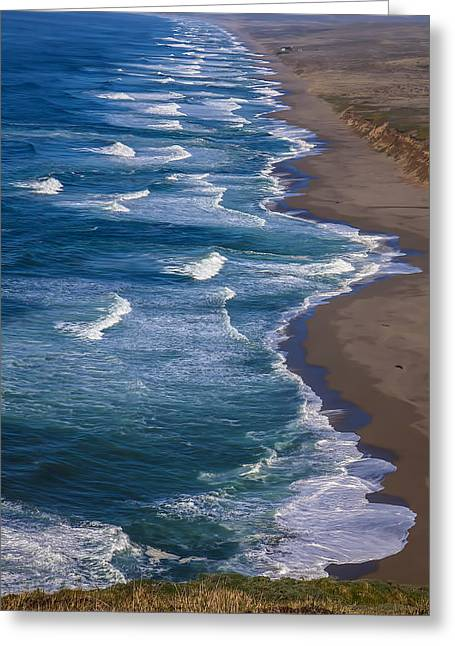 Ocean Shore Greeting Cards - Point Reyes Long Beach Greeting Card by Garry Gay