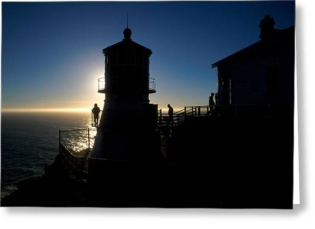 Uscg Greeting Cards - Point Reyes Silhouette Greeting Card by Jerry McElroy
