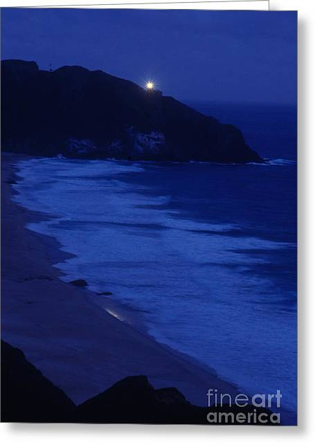 California Beach Greeting Cards - Point Sur Lighthouse Greeting Card by Bruce Roberts
