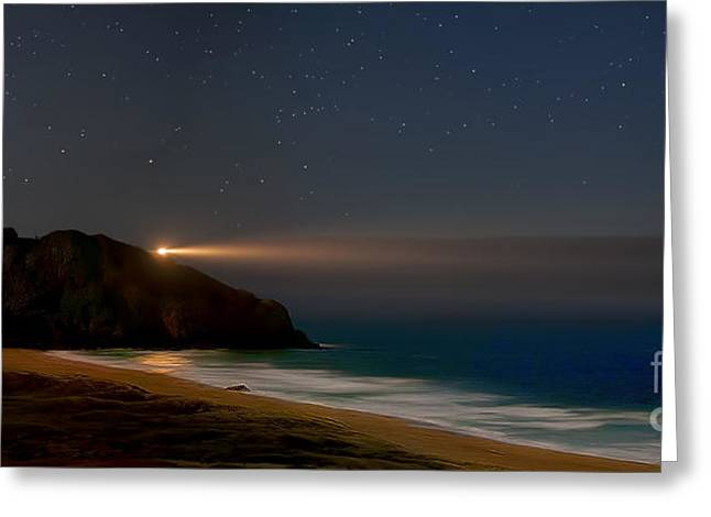 Big Sur Beach Greeting Cards - Point Sur Lighthouse In Big Sur Greeting Card by Rogelio Bernal Andreo