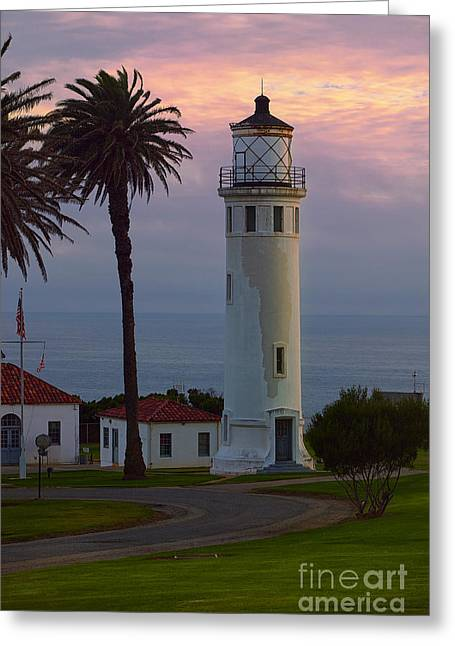 Ddmitr Greeting Cards - Point Vicente Lighthouse Greeting Card by Dmitry Chernomazov