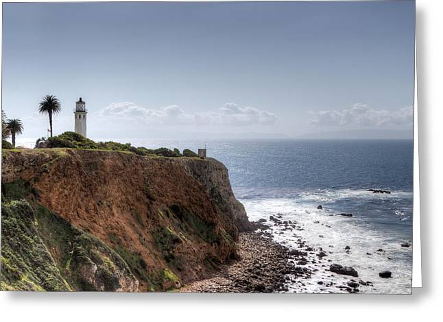 Heidi Greeting Cards - Point Vicente Lighthouse In Winter Greeting Card by Heidi Smith