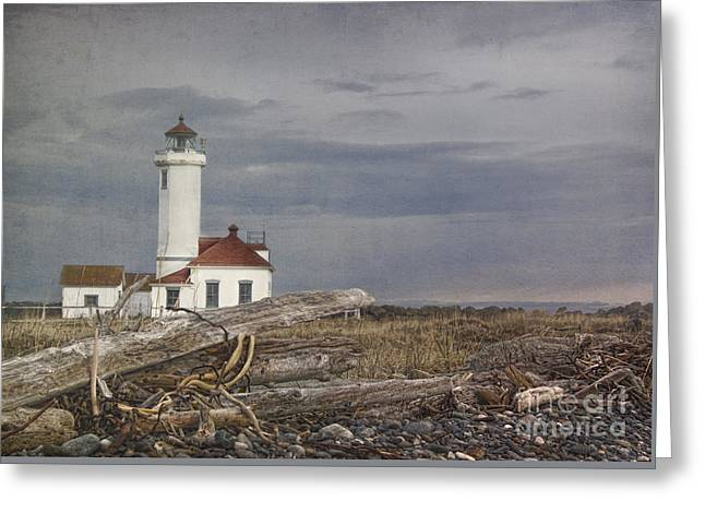 Juan De Fuca Greeting Cards - Point Wilson Greeting Card by Elena Nosyreva