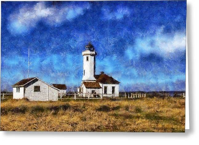 Townsends Inlet Greeting Cards - Point Wilson Lighthous Landward Greeting Card by Kaylee Mason