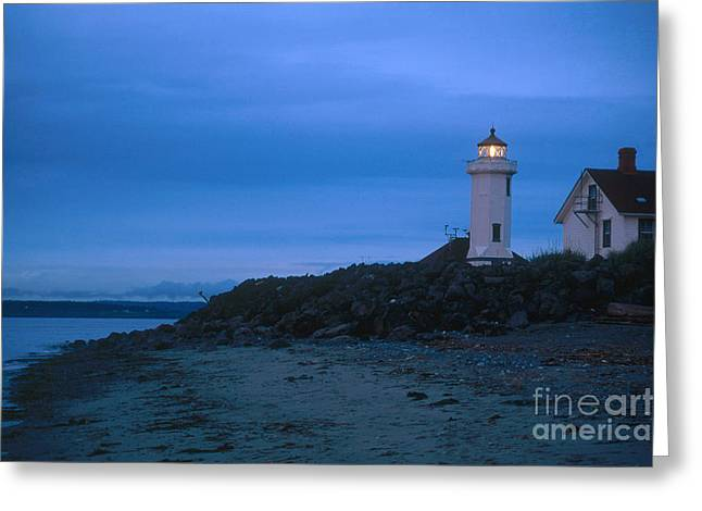 Townsends Inlet Greeting Cards - Point Wilson Lighthouse Greeting Card by Bruce Roberts