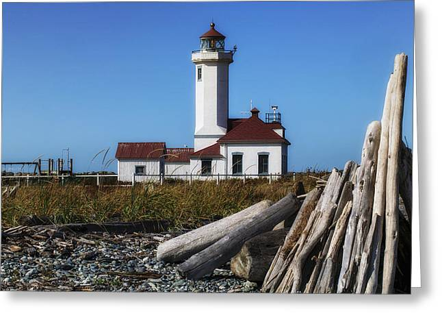 Points Greeting Cards - Point Wilson Lighthouse Greeting Card by Garry Gay