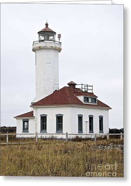 Townsends Inlet Greeting Cards - Point Wilson Lighthouse Greeting Card by Sean Griffin