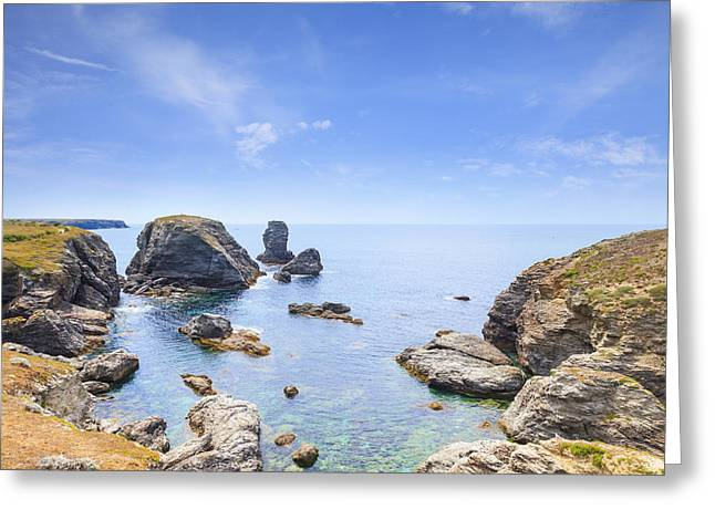 Belles Greeting Cards - Pointe Des Poulins Belle-Ile Brittany France Greeting Card by Colin and Linda McKie