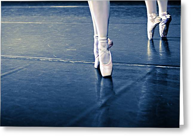 Pointe Greeting Card by Laura Fasulo