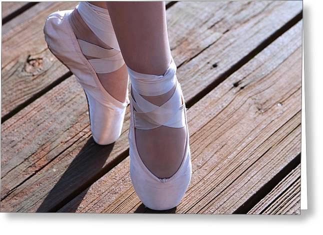 Dancer Photographs Greeting Cards - Pointe Shoes Greeting Card by Laura  Fasulo