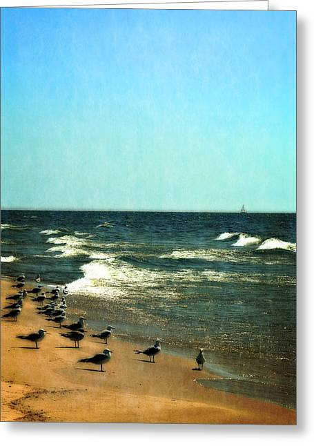Pointed Into The Wind Greeting Card by Michelle Calkins