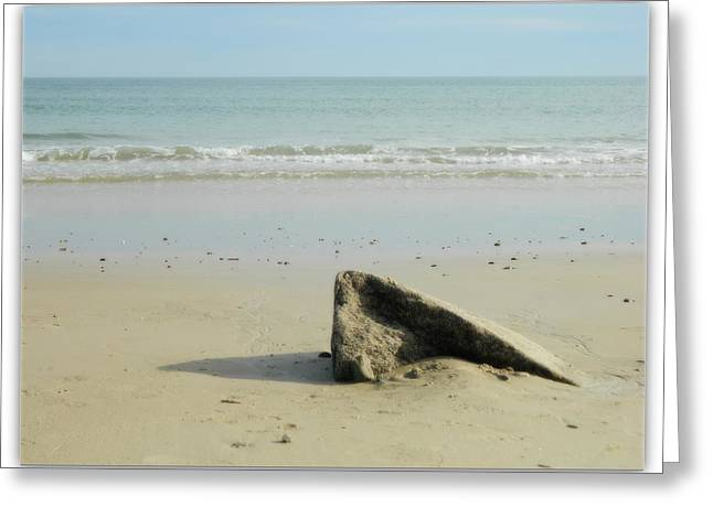 Gash Greeting Cards - Pointed Rock at Squibby Greeting Card by Kathy Barney