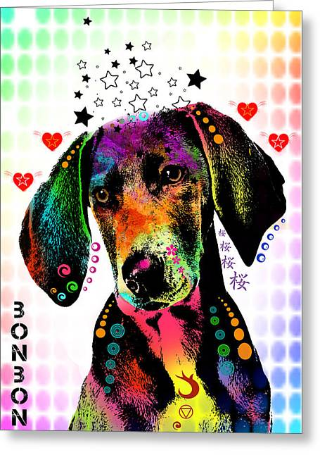 Pittie Greeting Cards - Pointer Greeting Card by Mark Ashkenazi