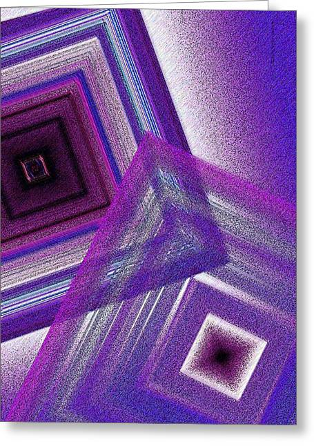 Transparency Geometric Greeting Cards - Pointillism and Purple on Geometric Art  Greeting Card by Mario  Perez