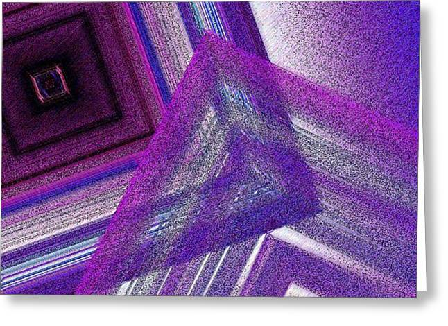 Pointillism and Purple on Geometric Art  Greeting Card by Mario  Perez