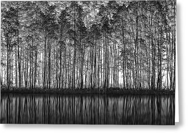 Pointillism Nature Greeting Card by Roswitha Schleicher-schwarz