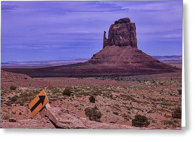 Navajo Tribal Park Greeting Cards - Pointing Arrow Monument Valley Greeting Card by Garry Gay