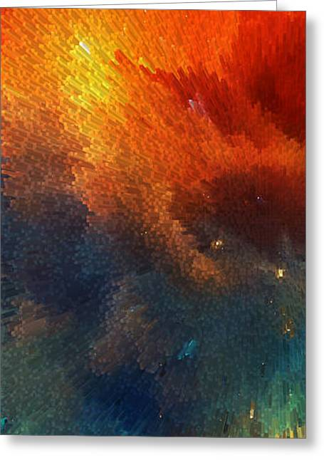 Celestial Digital Greeting Cards - Points Of Light Abstract Art By Sharon Cummings Greeting Card by Sharon Cummings