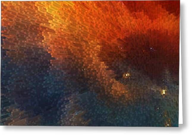 Points Of Light Abstract Art By Sharon Cummings Greeting Card by Sharon Cummings