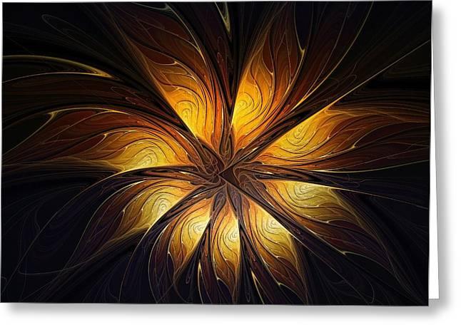 Floral Digital Art Digital Art Greeting Cards - Points of Light Greeting Card by Amanda Moore