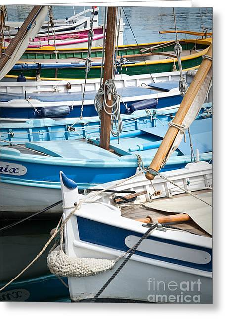 Sailing Boat Greeting Cards - Pointus Greeting Card by Delphimages Photo Creations