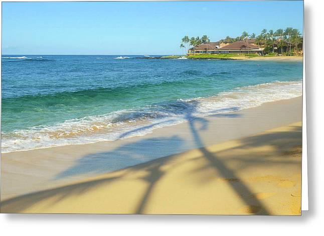 Poipu Beach, Kauai, Hawaii Greeting Card by Douglas Peebles