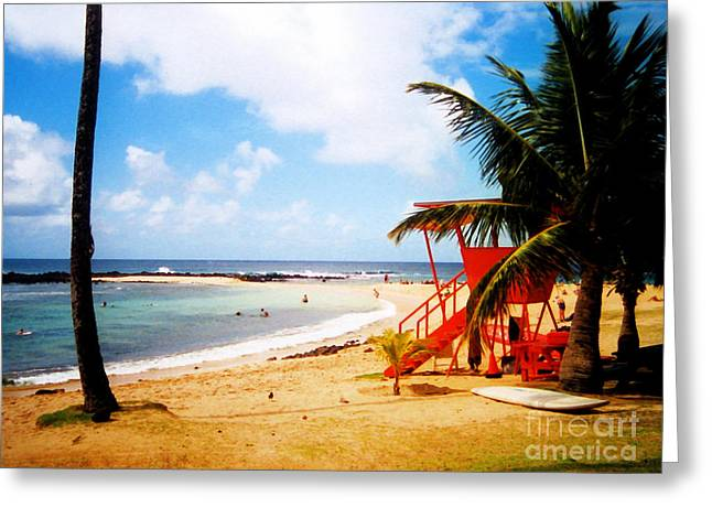 Jerome Stumphauzer Greeting Cards - Poipu Beach Kauai Hawaii Greeting Card by Jerome Stumphauzer