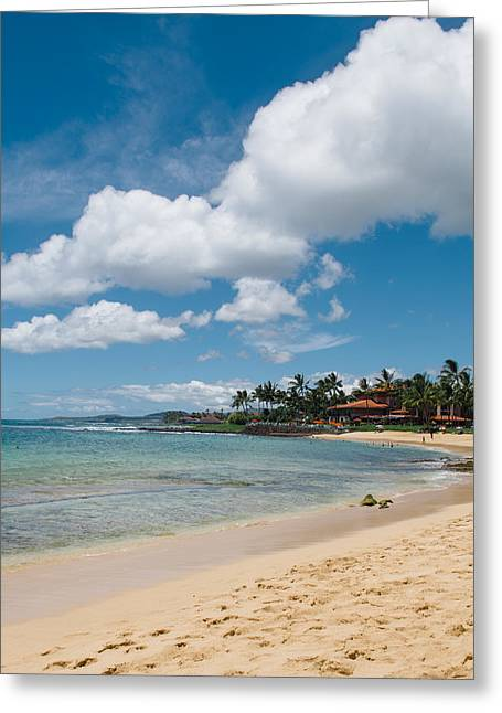 Beach Photograph Greeting Cards - Poipu beach Greeting Card by Nastasia Cook