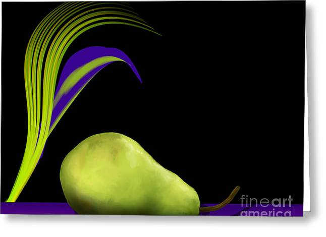 Pear - Poire - Open Edition Greeting Card by Kathryn L Novak