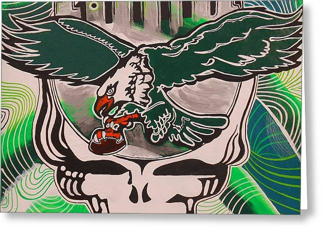Jerry Garcia Band Greeting Cards - Poised for Flight Wings Spread Bright Greeting Card by Kevin J Cooper Artwork