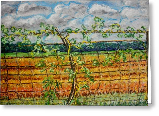Painted Wood Pastels Greeting Cards - Poison Ivy Greeting Card by Tim  Swagerle