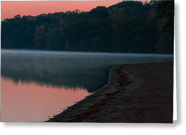 Pokagon State Park Beach Greeting Card by Gene Sherrill
