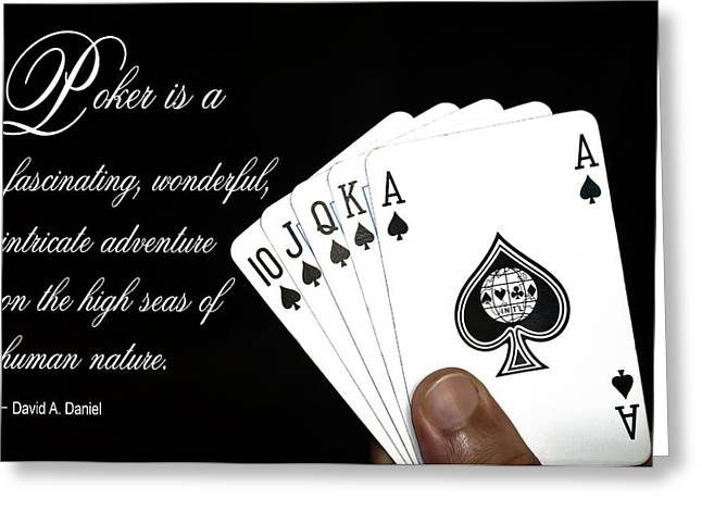 Hand Drawn Mixed Media Greeting Cards - Poker Is . . . Greeting Card by Daniel Hagerman