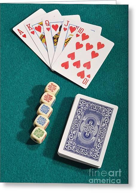 Poker Greeting Card by Luis Alvarenga