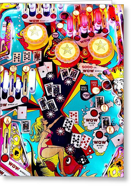 Playing Cards Greeting Cards - Poker Playfield Greeting Card by Benjamin Yeager