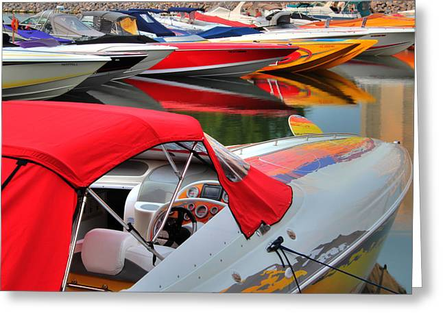Poker Run Boat Greeting Cards - Poker Run 1 Greeting Card by Jim Vance