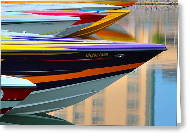 Poker Run Boat Greeting Cards - Poker Run 3 Greeting Card by Jim Vance