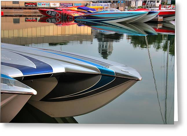 Poker Run Boat Greeting Cards - Poker Run 9 Greeting Card by Jim Vance