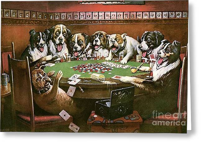Poker Sympathy Greeting Card by Cassius Marcellus Coolidge