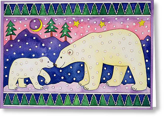 Crescent Greeting Cards - Polar Bears Greeting Card by Cathy Baxter