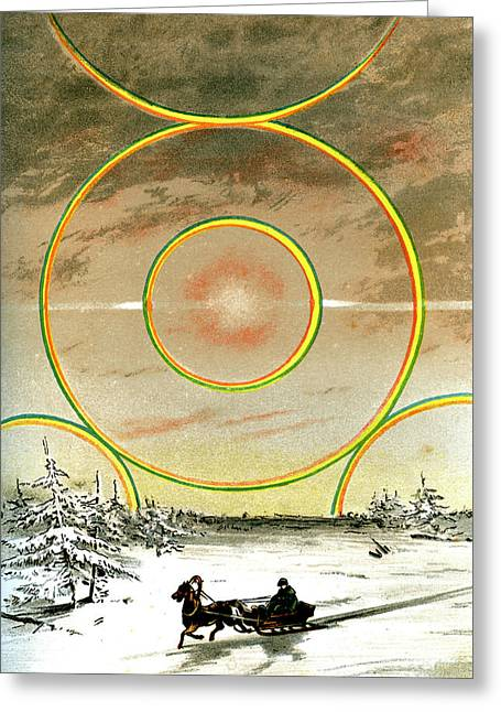 Polar Halo Greeting Card by Collection Abecasis