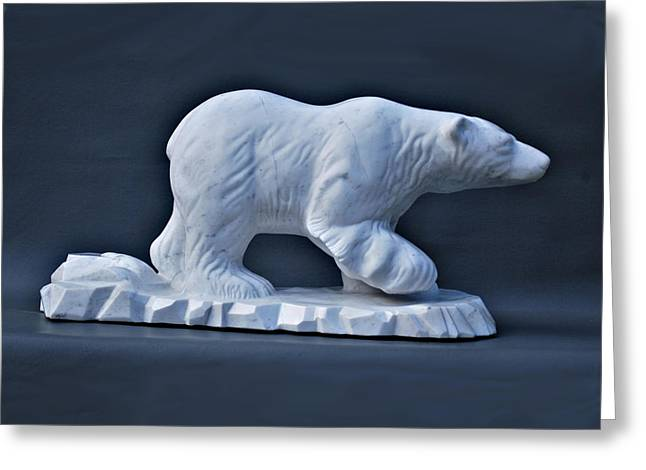 Leslie Dycke Greeting Cards - Polar King Greeting Card by Leslie Dycke
