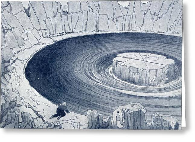 Hypothesis Greeting Cards - Polar Region, Conceptual Artwork Greeting Card by British Library