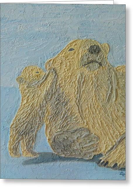 Contemporary Reliefs Greeting Cards - Polar Secrets Greeting Card by Liza Wheeler