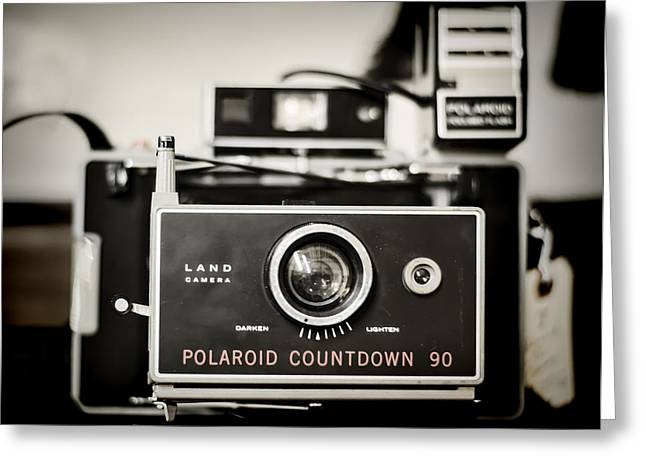Flash Greeting Cards - Polaroid Countdown 90 Greeting Card by Heather Applegate
