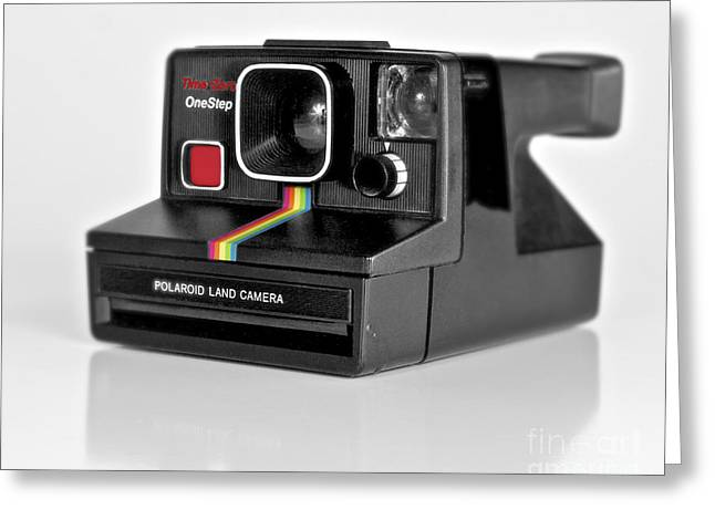 1980s Greeting Cards - Polaroid Time-Zero One Step color version Greeting Card by Mark Miller