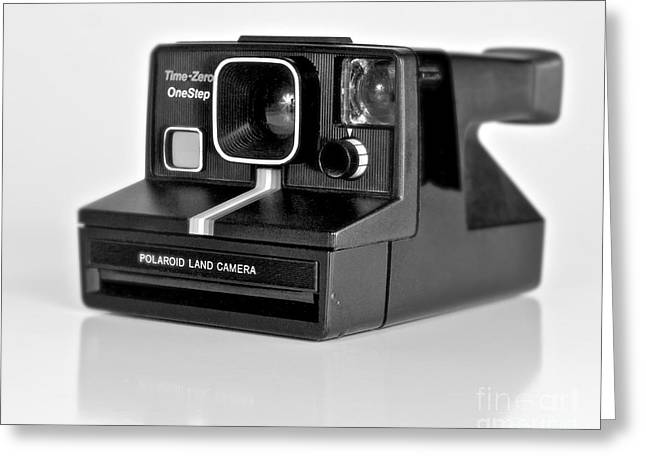 80s Greeting Cards - Polaroid Time-Zero One Step Greeting Card by Mark Miller