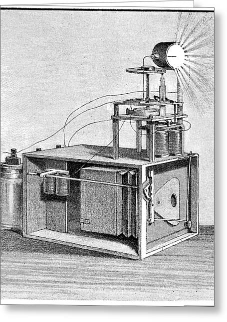 La Science Illustree Greeting Cards - Police camera, 1893 Greeting Card by Science Photo Library